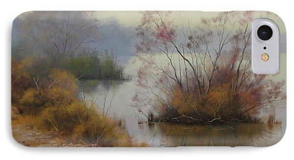 Hawksbury River Painting IPhone Case by Graham Gercken