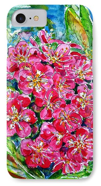 Hawthorn Blossom Phone Case by Zaira Dzhaubaeva