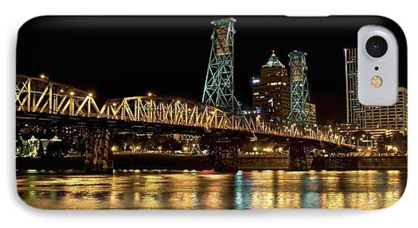 Hawthorne Bridge Over Willamette River IPhone Case