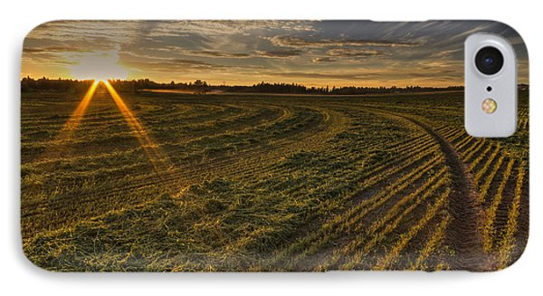 Hay And Sun Rays IPhone Case by Mark Kiver