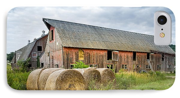 Hay Bales And Old Barns Phone Case by Gary Heller