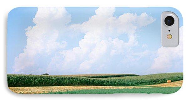 Hay Bales In A Field, Jo Daviess IPhone Case