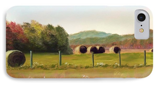 Hay Bales In The Cove Phone Case by Joan Swanson