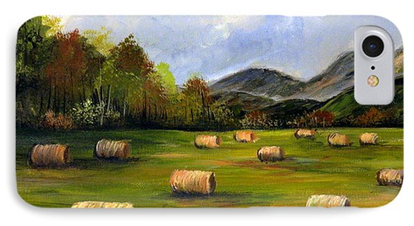 Hay Bales In Wv IPhone Case by Dorothy Maier