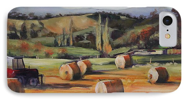 Hay Bales IPhone Case by Kathy  Karas