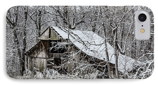 IPhone Case featuring the photograph Hay Barn In Snow by Debbie Green