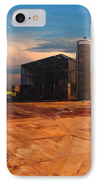 IPhone Case featuring the painting Hay Barn In Vijfhuizen by Nop Briex