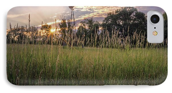 Hay Field Sunset IPhone Case by Bill Wakeley