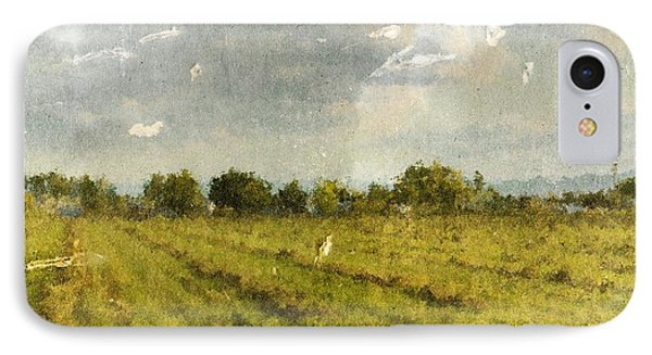 Hay Fields In September IPhone Case by Brett Pfister