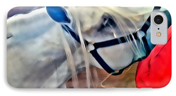 Hay For The White Horse Phone Case by Alice Gipson