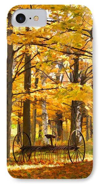 Hay Rake At Rest IPhone Case by Christopher Arndt
