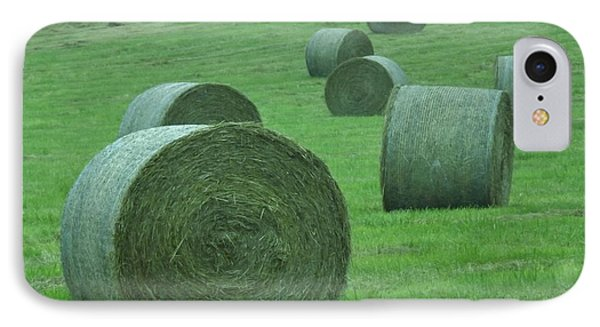 Haybales IPhone Case by John Wartman