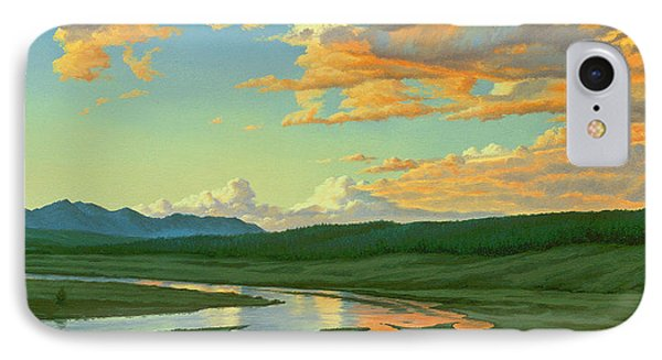 Hayden Valley Sunset IPhone Case by Paul Krapf
