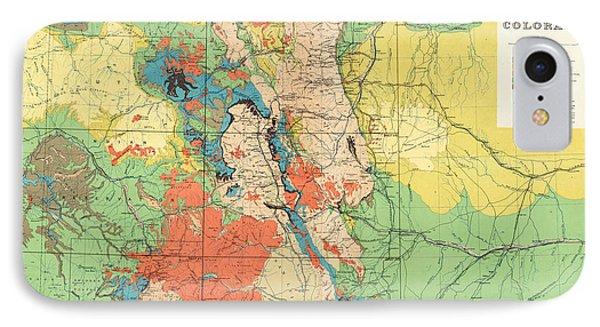 Hayden's General Geological Map Of Colorado - 1881 IPhone Case
