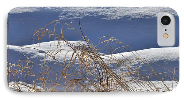 Hayfield In Winter IPhone Case by Gerald Hiam