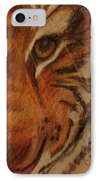 IPhone Case featuring the drawing Hayley's Zoo Tiger by Christy Saunders Church