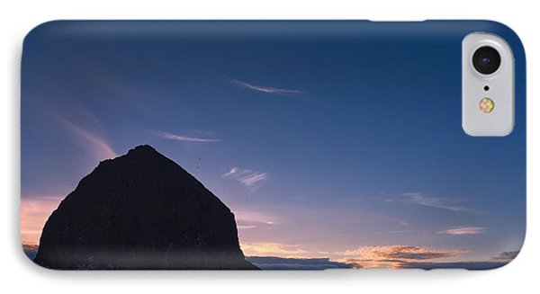 Haystack Rock Dusk IPhone Case by Joan Carroll