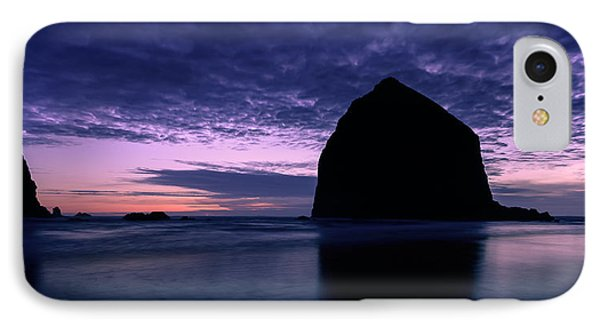 Haystack Rock Twilight Phone Case by Dan Mihai