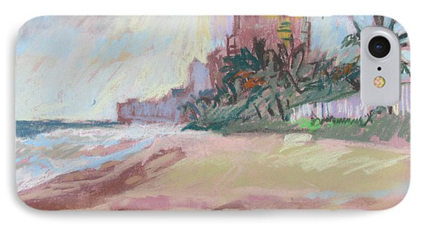 IPhone Case featuring the painting Hazy Beach by Linda Novick