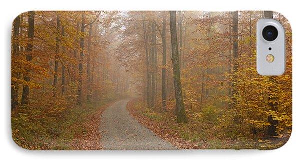 Hazy Forest In Autumn Phone Case by Matthias Hauser