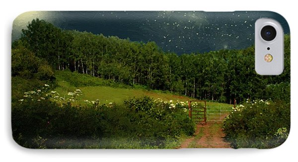 Hazy Moon Meadow IPhone Case by RC deWinter
