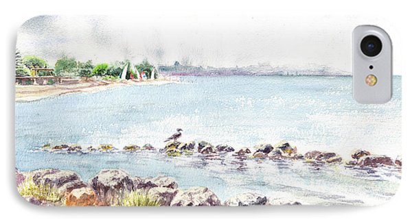 Hazy Morning At Crab Cove In Alameda California IPhone Case by Irina Sztukowski