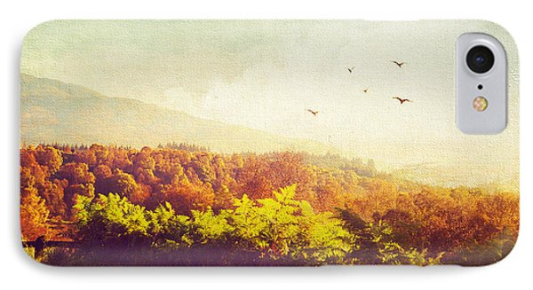 Hazy Morning In Trossachs National Park. Scotland Phone Case by Jenny Rainbow