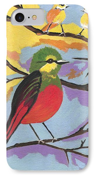 IPhone Case featuring the painting He Aint That Tweet by Kathleen Sartoris
