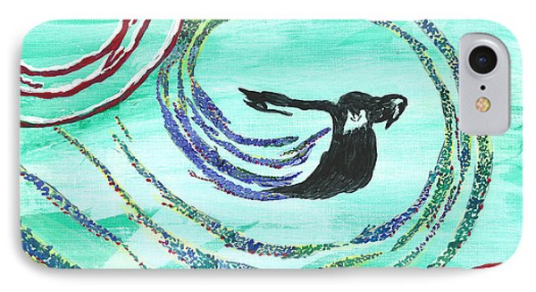 He Comes In The Wind Phone Case by Angela Pelfrey