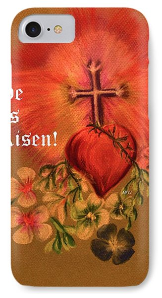 He Is Risen Greeting Card Phone Case by Maria Urso