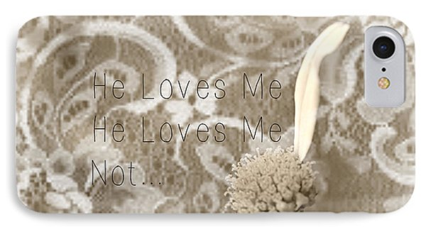IPhone Case featuring the photograph He Loves Me by Lila Fisher-Wenzel