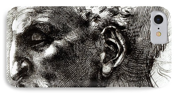 Head Of A Satyr  IPhone Case by Michelangelo