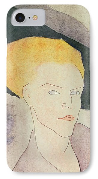 Head Of A Woman Wearing A Hat IPhone Case by Amedeo Modigliani