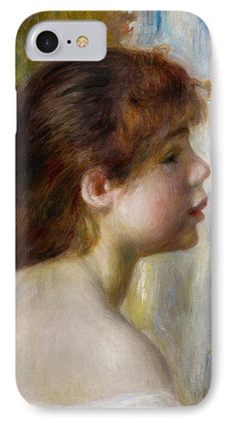 Head Of A Young Woman Phone Case by Pierre Auguste Renoir