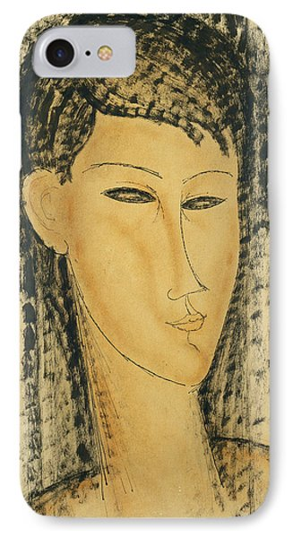 Head Of A Young Women IPhone Case by Amedeo Modigliani