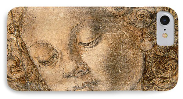 Head Of An Angel IPhone Case by Andrea del Verrocchio
