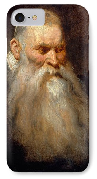 Head Of An Old Man With A White Beard IPhone Case by Anthony van Dyck
