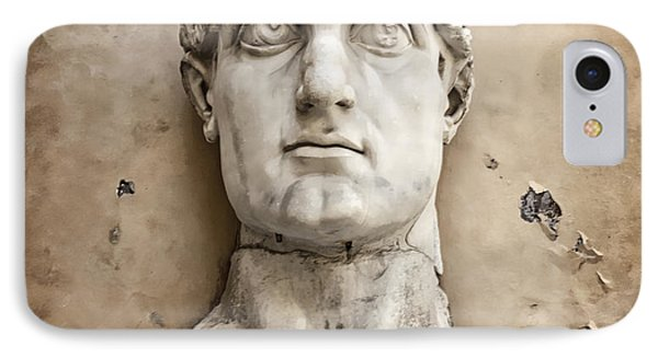 Head Of Constantine Phone Case by Joan Carroll
