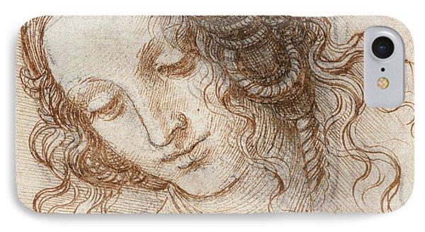 Head Of Leda Phone Case by Leonardo da Vinci