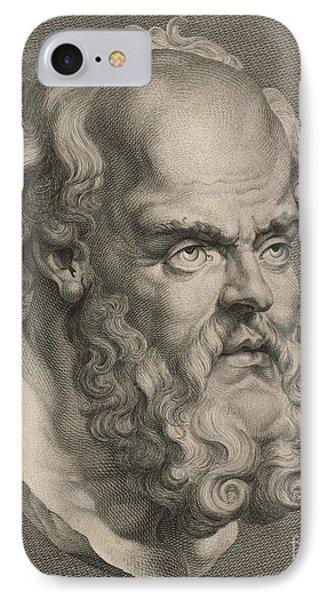 Head Of Socrates IPhone Case