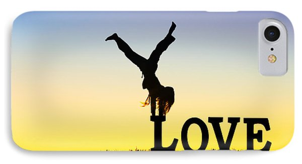 Head Over Heels In Love IPhone Case by Tim Gainey