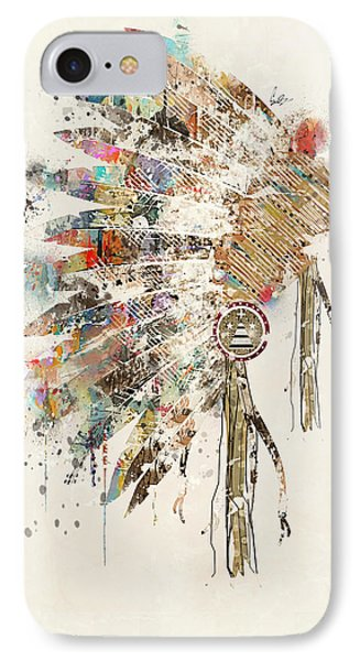 Headdress IPhone Case by Bri B