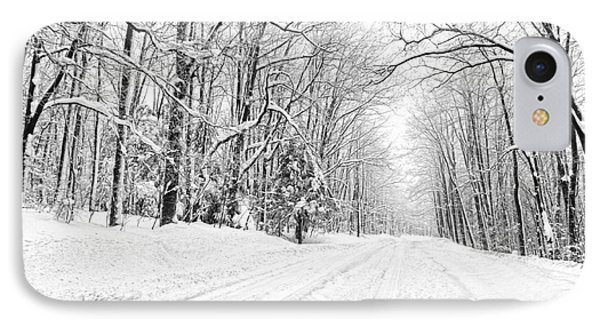 Heading For Davis West Virginia After Snow Storm Phone Case by Dan Friend