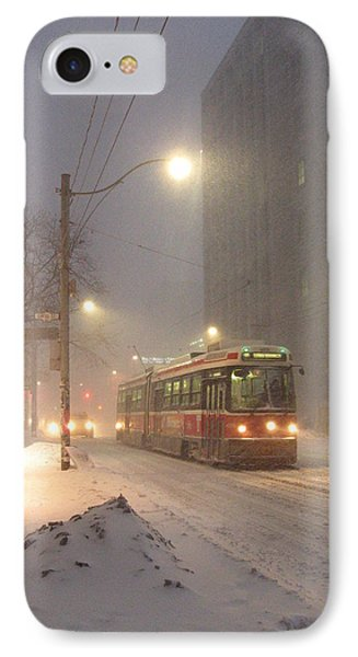 IPhone Case featuring the photograph Heading Home In The Snowstorm by Alfred Ng