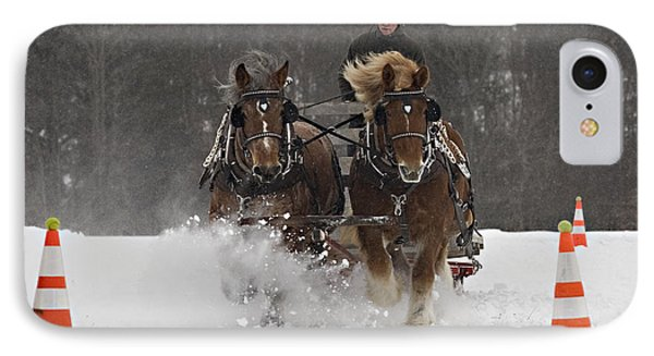 Heading To The Finish IPhone Case by Carol Lynn Coronios