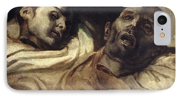 Heads Of Torture Victims, Study For The Raft Of The Medusa  IPhone Case by Theodore Gericault