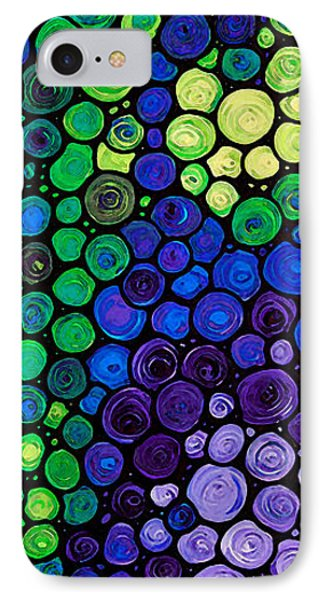 Healing Light - Mosaic Art By Sharon Cummings IPhone Case by Sharon Cummings