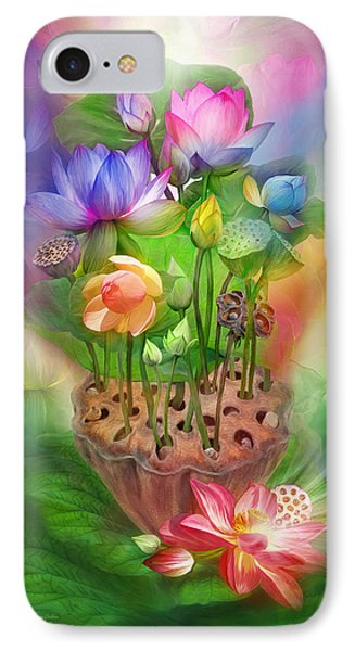 Healing Lotus - Chakras Phone Case by Carol Cavalaris