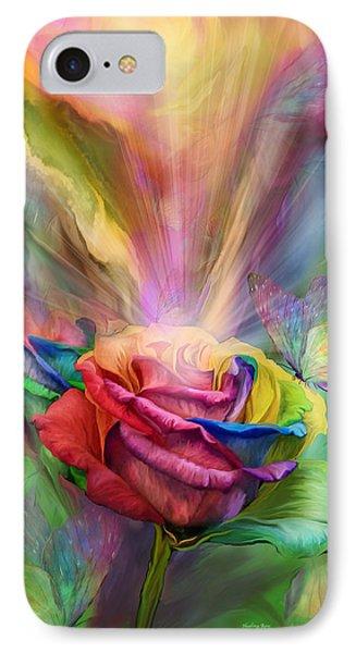 Healing Rose Phone Case by Carol Cavalaris
