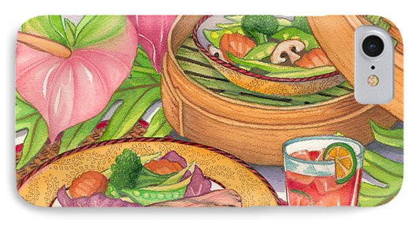 Healthy Dining Phone Case by Tammy Yee
